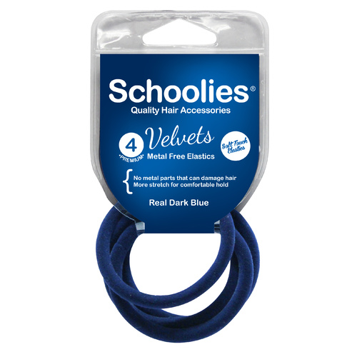 Schoolies Velvets 4pc Real Dark Blue